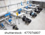 wastewater treatment plant. a... | Shutterstock . vector #477076807