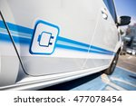 electric vehicle with a plug in ... | Shutterstock . vector #477078454