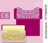 laser cut wedding invitation... | Shutterstock .eps vector #477080035