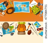 travel and tourism. flat style. ... | Shutterstock . vector #477084751