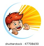 shouting kid | Shutterstock .eps vector #47708650