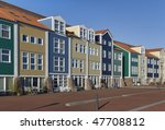 colorful houses on the harbor... | Shutterstock . vector #47708812