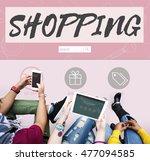shopping online buy sale... | Shutterstock . vector #477094585