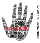 black lives matter word cloud... | Shutterstock .eps vector #477105097