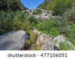 reflection of devil's bridge in ... | Shutterstock . vector #477106051
