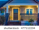 entrance of a house at dusk in... | Shutterstock . vector #477112234