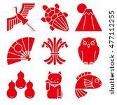 good luck charms. japanese... | Shutterstock .eps vector #477112255