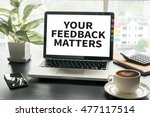 your feedback matters computing ... | Shutterstock . vector #477117514