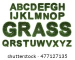 letter made of grass isolated... | Shutterstock . vector #477127135