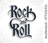 rock music print  hipster... | Shutterstock .eps vector #477131521