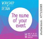 banner for hackathon  workshop  ... | Shutterstock .eps vector #477132085