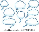 vector drawing thinking bubbles | Shutterstock .eps vector #477133345