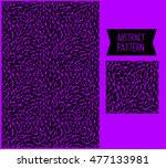 Abstract Animal Print Black...