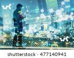 digital revolution and internet ...   Shutterstock . vector #477140941