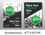 green color scheme with city... | Shutterstock .eps vector #477143749