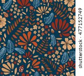 floral seamless pattern.... | Shutterstock .eps vector #477152749