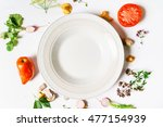 various vegetables and... | Shutterstock . vector #477154939
