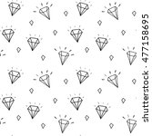 vector pattern with diamonds.... | Shutterstock .eps vector #477158695