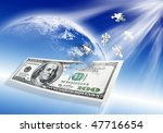 Puzzle 100 Dollar Banknote On...