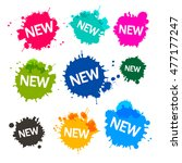 colorful blots   stains  ... | Shutterstock .eps vector #477177247