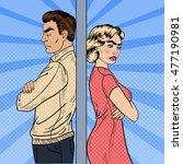 family quarrel   unhappy young... | Shutterstock .eps vector #477190981