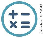 calculator vector bicolor... | Shutterstock .eps vector #477195904