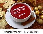 beetroot soup | Shutterstock . vector #477209401