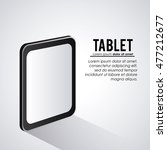 tablet one black device display ...   Shutterstock .eps vector #477212677