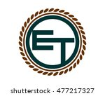e and t circle initial letter... | Shutterstock .eps vector #477217327