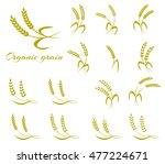 wheat ear symbols for logo...   Shutterstock .eps vector #477224671