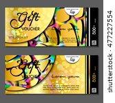 gift voucher. vector ... | Shutterstock .eps vector #477227554