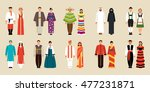 big set of national costumes.... | Shutterstock .eps vector #477231871