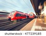 modern high speed red passenger ... | Shutterstock . vector #477239185