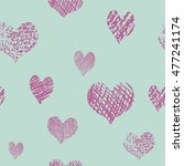 seamless pattern with hearts.... | Shutterstock .eps vector #477241174