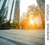 empty pavement and modern... | Shutterstock . vector #477242515