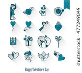 simple flat icons collection...   Shutterstock .eps vector #477249049