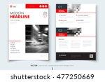 red magazine cover design... | Shutterstock .eps vector #477250669