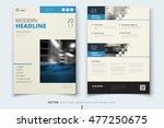 blue brochure modern cover... | Shutterstock .eps vector #477250675