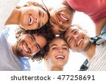 directly below shot of young... | Shutterstock . vector #477258691