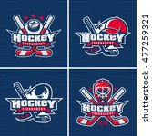 set of ice hockey badge  logo ... | Shutterstock .eps vector #477259321