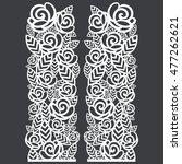 stencil folding screen column... | Shutterstock .eps vector #477262621