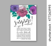 wedding invitation or card with ... | Shutterstock .eps vector #477263995