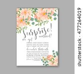 wedding invitation or card with ...   Shutterstock .eps vector #477264019