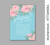 wedding invitation or card with ... | Shutterstock .eps vector #477264061
