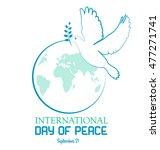 international peace day. peace... | Shutterstock .eps vector #477271741