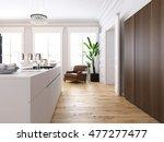 3d rendering. modern loft with... | Shutterstock . vector #477277477