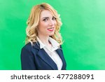 portrait of young woman  in... | Shutterstock . vector #477288091