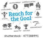 reach for the goal. chart with... | Shutterstock .eps vector #477288991