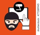 laptop virus safe security   Shutterstock .eps vector #477289945