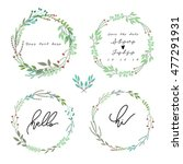 hand drawn floral  wedding set | Shutterstock .eps vector #477291931